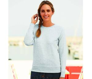 Fruit of the Loom SC361 - Langarm Baumwoll-Sweatshirt für Frauen