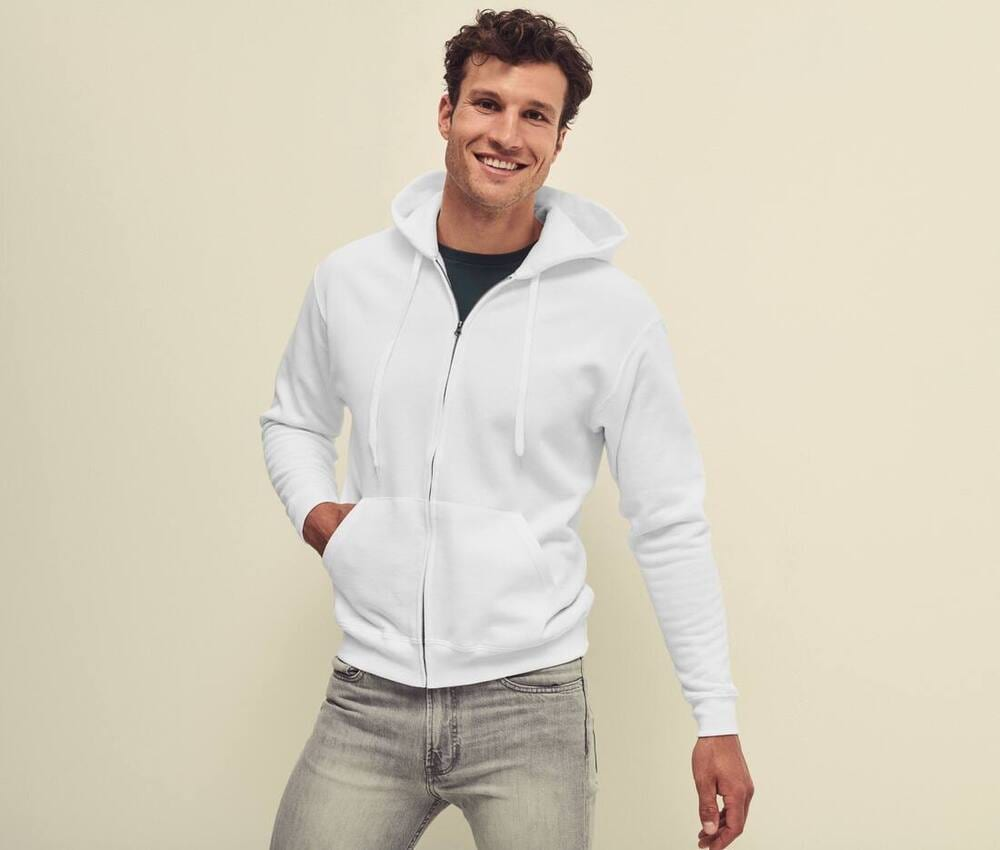 Fruit of the Loom SC374 - Sweat à Capuche Zippé Homme