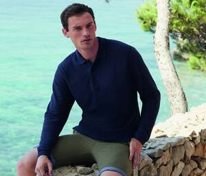 Fruit of the Loom SC384 - Polo Manches Longues Homme Premium