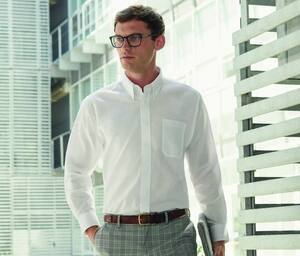 Fruit of the Loom SC400 - Camisa Manga Larga Oxford