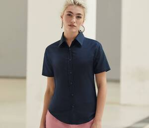 Fruit of the Loom SC406 - Lady Fit Oxford Overhemd Met Korte Mouw (65-000-0)