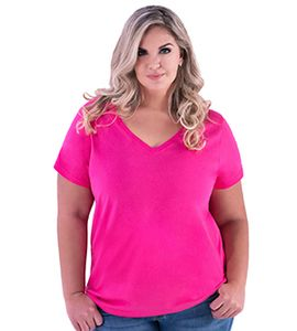 LAT 3807 - Ladies Curvy V-Neck Tee