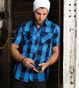 Burnside 9203B - Camisa tejida a cuadros