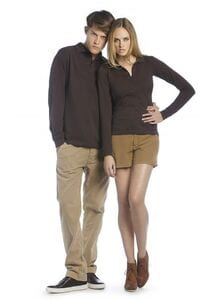 B&C BC425 - Long Sleeve 100% Cotton Polo Shirt