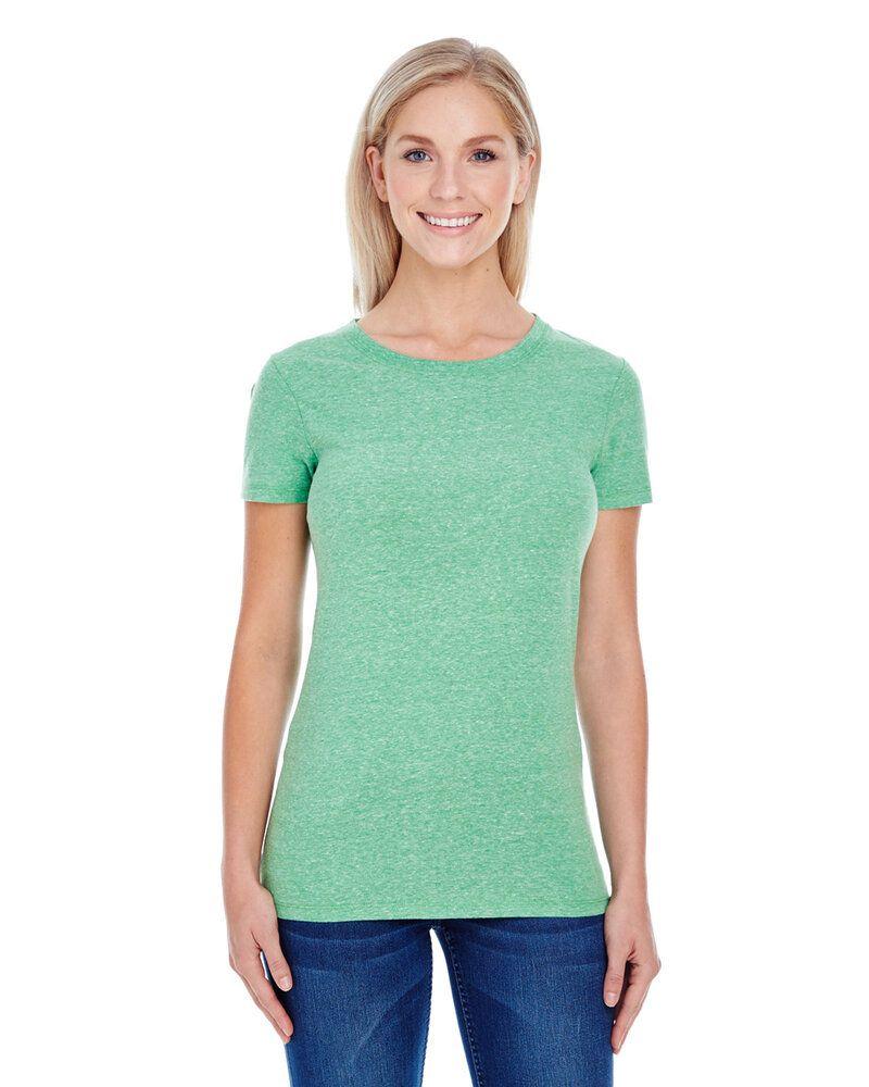 Threadfast 202A - T-shirt à manches courtes Triblend pour femmes
