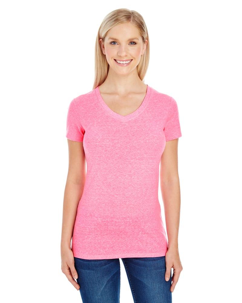 Threadfast 202B - Ladies Triblend Short-Sleeve V-Neck T-Shirt