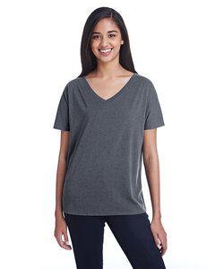 Threadfast 203FV - Ladies Triblend Fleck Short-Sleeve V-Neck T-Shirt