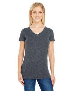 Threadfast 208B - Ladies Vintage Dye Short-Sleeve V-Neck T-Shirt