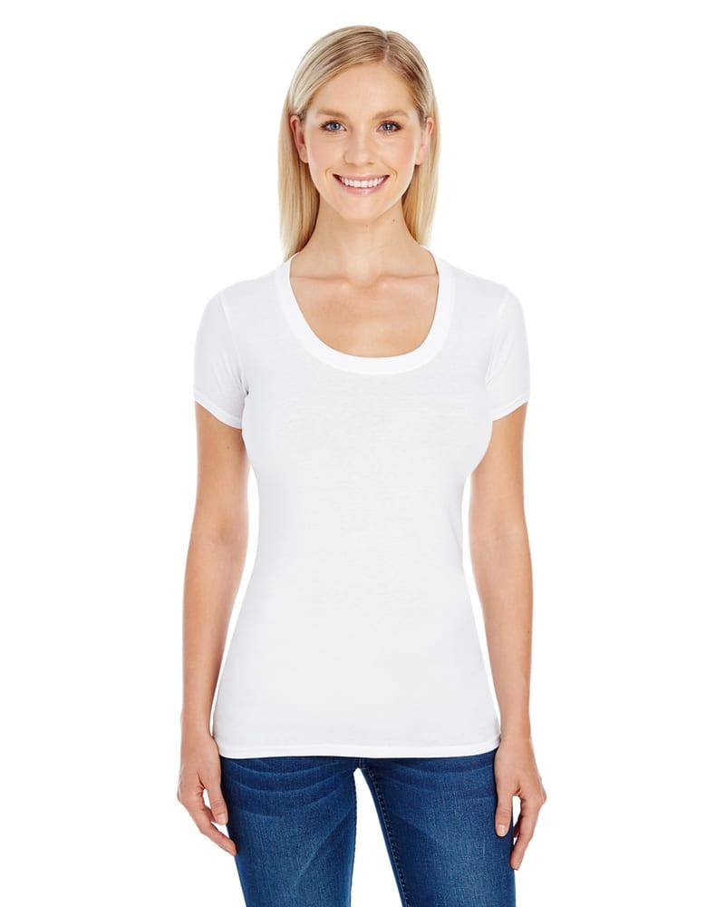 Threadfast 220S - Ladies Spandex Short-Sleeve Scoop Neck T-Shirt