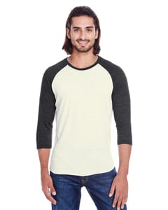 Threadfast 302G - T-Shirt Raglan unisexe Triblend à manches 3/4