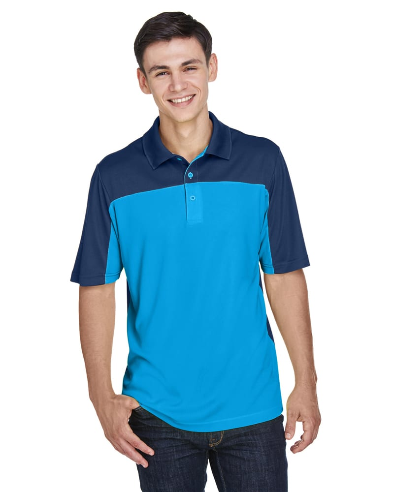 Ash CityCore 365 CE101 - Men's Balance Colorblock Performance Piqué Polo