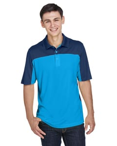Ash CityCore 365 CE101 - Mens Balance Colorblock Performance Piqué Polo