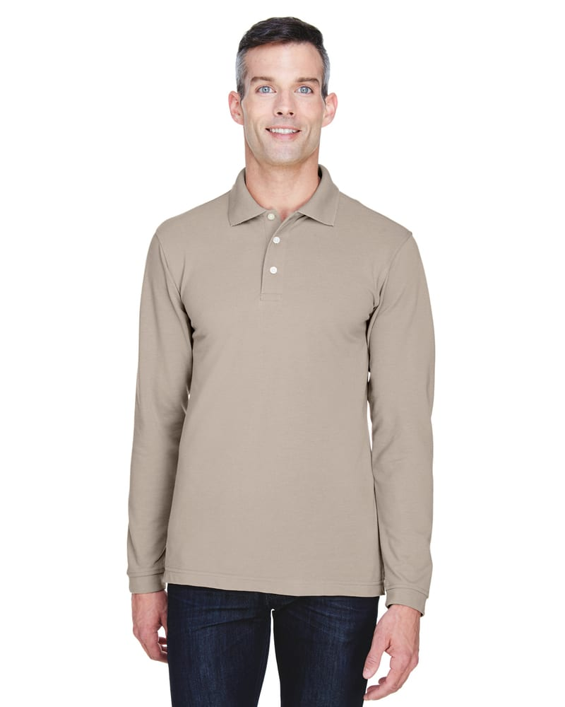 Harriton M265L - 5.6 oz. Easy Blend Long-Sleeve Polo