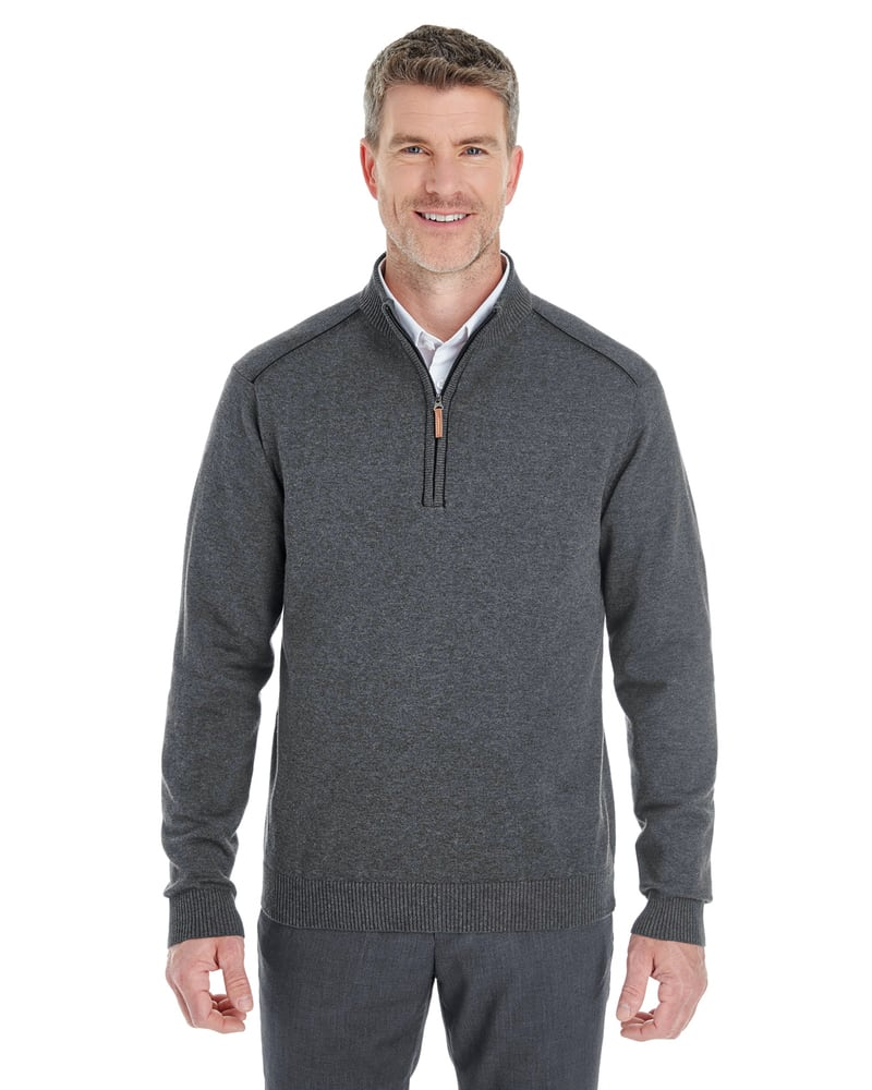 Devon & Jones DG478 - Men's Manchester Fully-Fashioned Half-Zip Sweater