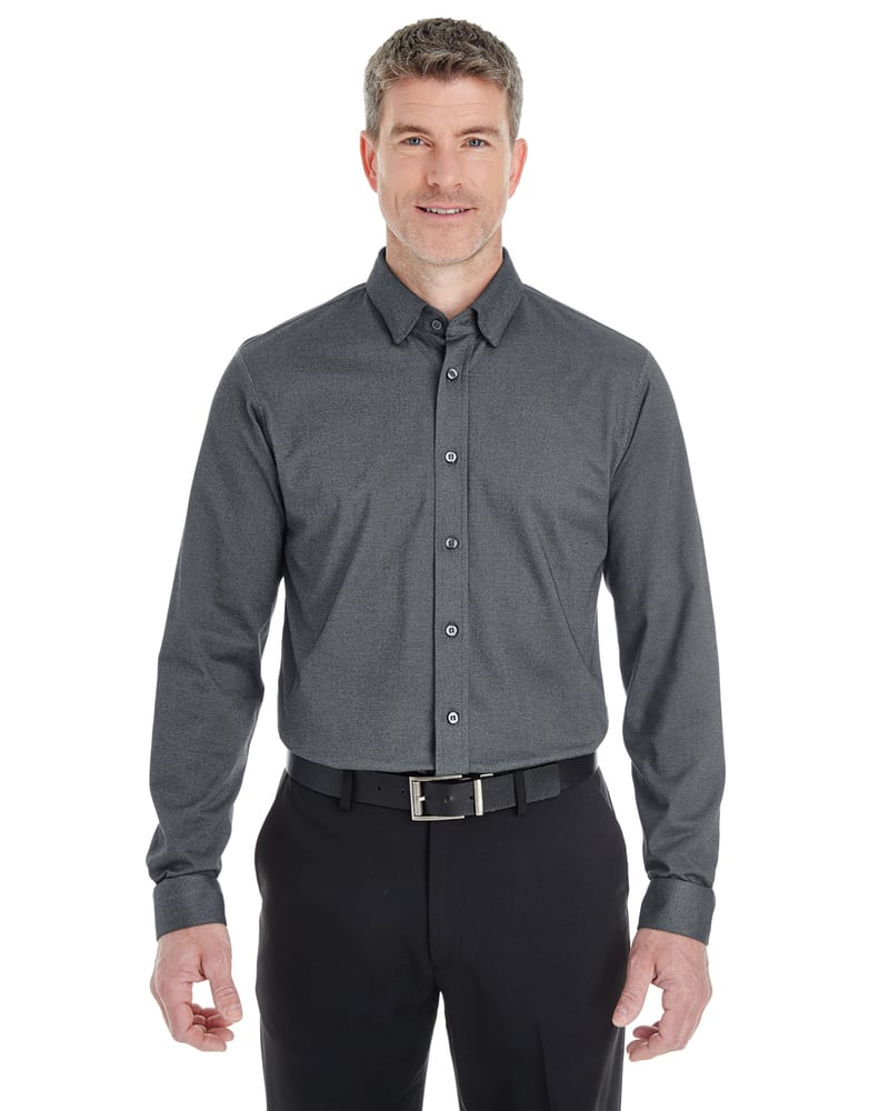 Devon & Jones DG230 - Men's Central Cotton Blend Melange Button Down