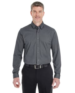 Devon & Jones DG230 - Mens Central Cotton Blend Melange Button Down
