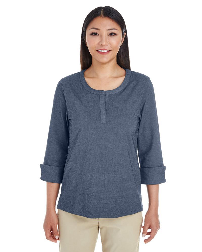 Devon & Jones DG230W - Top en tricot Central Cotton Blend Mélange pour femme