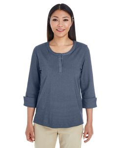 Devon & Jones DG230W - Ladies Central Cotton Blend Melange Knit Top