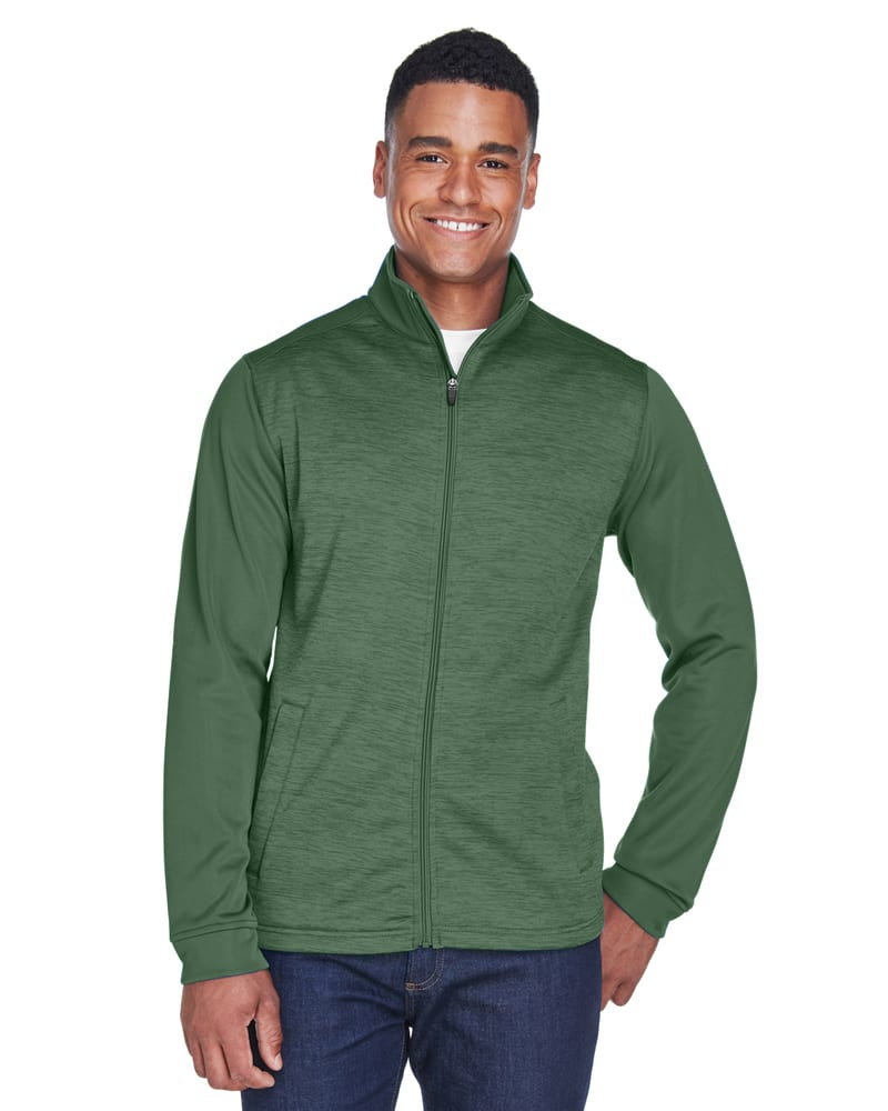 Devon & Jones DG796 - Men's Newbury Colorblock Mélange Fleece Full-Zip