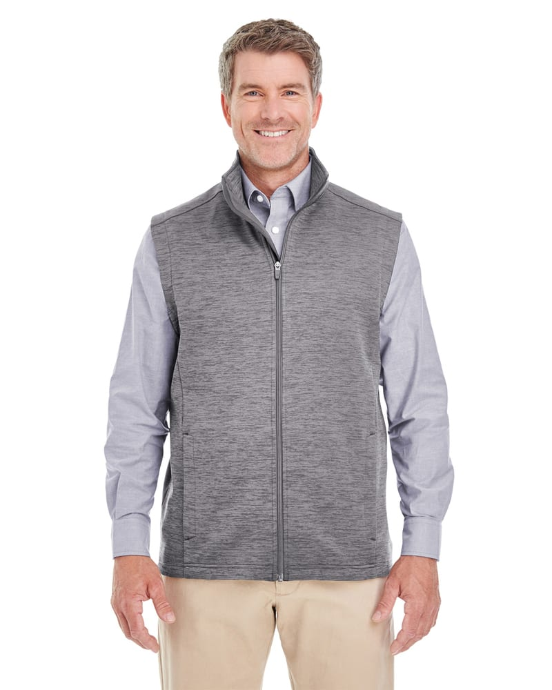 Devon & Jones DG797 - Men's Newbury Mélange Fleece Vest