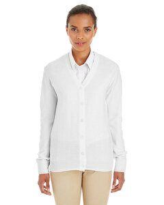 Harriton M425W - Ladies Pilbloc™ V-Neck Button Cardigan Sweater