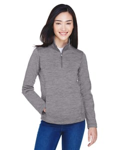 Devon & Jones DG798W - Ladies Newbury Mélange Fleece Quarter-Zip