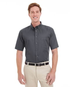 Harriton M582 - Mens Foundation 100% Cotton Short Sleeve Twill Shirt Teflon™