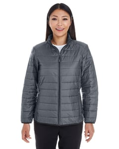 North End NE701W - Gilet Femmes - Portal Interactive Packable Puffer Imprimé