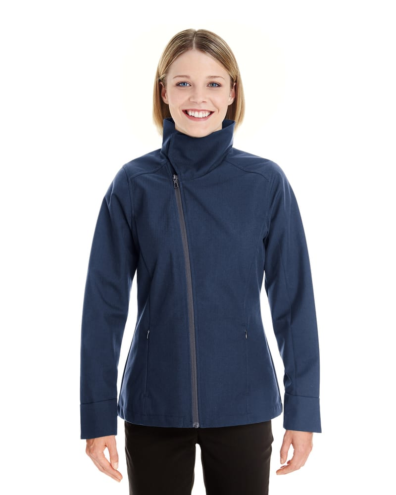 Ash City North End NE705W - Ladies Edge Soft Shell Jacket with Fold-Down Collar