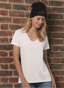 B&C BC045 - Tee shirt Femme Col V en Coton Biologique