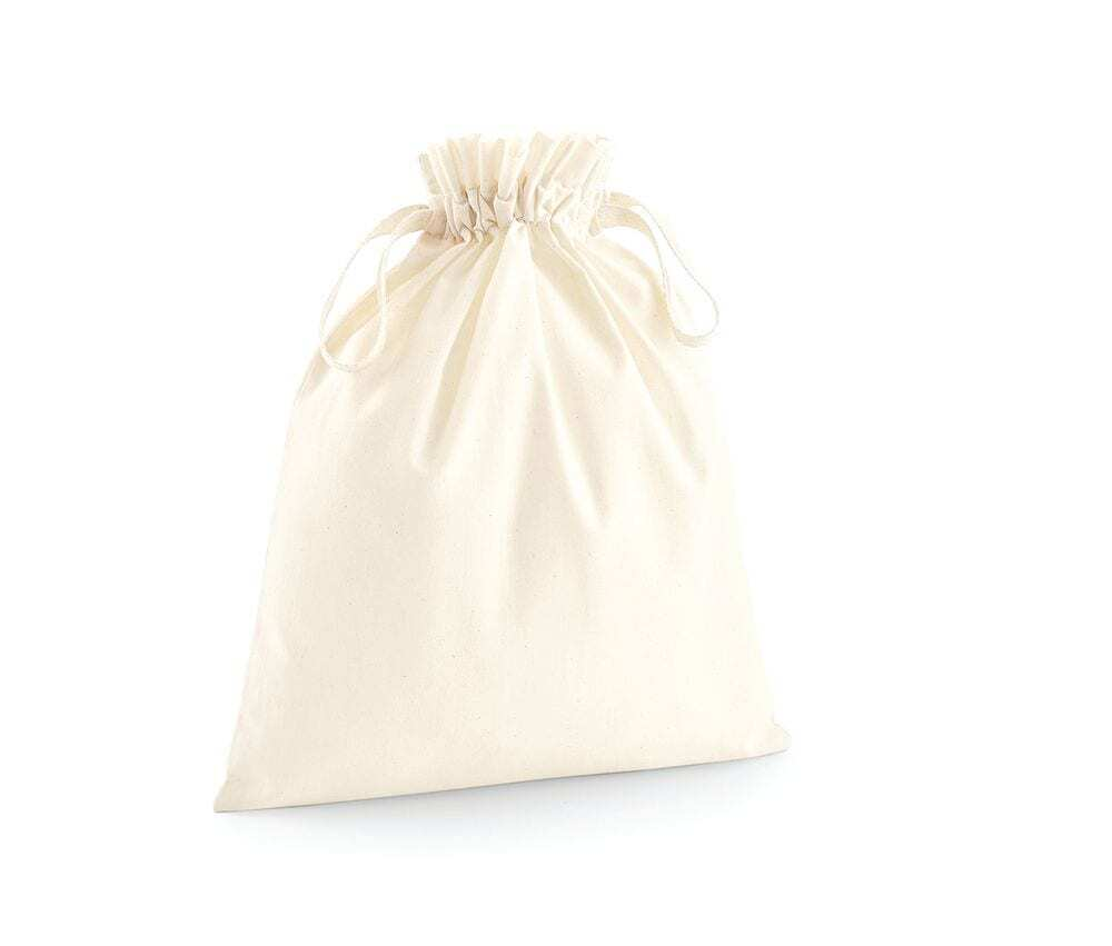Westford mill WM118 - Organic Cotton Pouch with drawstring