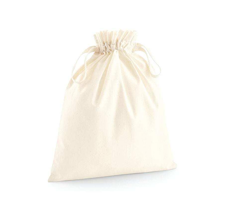 Westford mill WM118 - Organic Cotton Draw Cord Bag