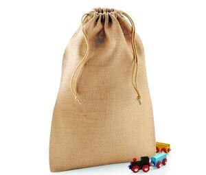 Westford mill WM415 - Burlap Bag with Drawstring