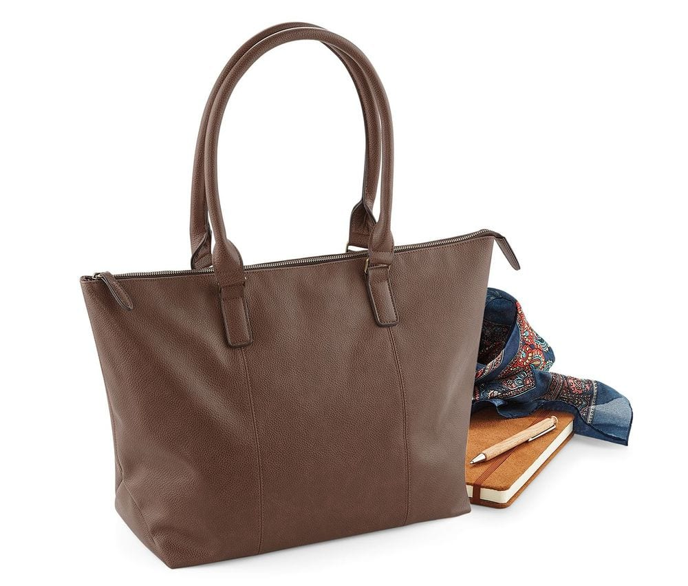 BagBase Riviera Tote Bag Ladies Black Handbag Over Shoulder Shopper BG693