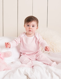 Larkwood LW053 - Contrast Long Sleeved Sleepsuit