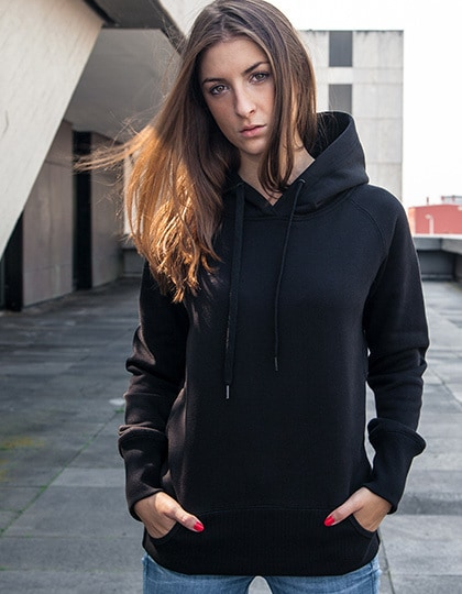 Build Your Brand BY043 - Ladies Cuff Pockets Hoody