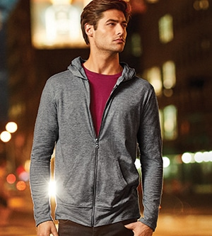 Anvil 6759 - Adult Tri-Blend Full Zip Hooded Jacket