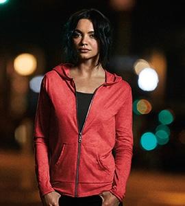 Anvil 6759L - Womens Tri-Blend Full Zip Hooded Jacket