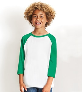 Next Level NL3352 - Youth CVC 3/4 Sleeve Raglan