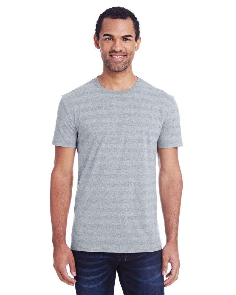 Threadfast 152A - T-shirt à manches courtes à rayures invisibles pour homme