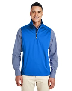 Core 365 CE709 - Mens Techno Lite Three-Layer Knit Tech-Shell Quarter-Zip Vest