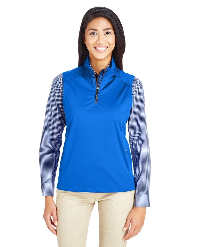Core 365 CE709W - Ladies Techno Lite Three-Layer Knit Tech-Shell Quarter-Zip Vest