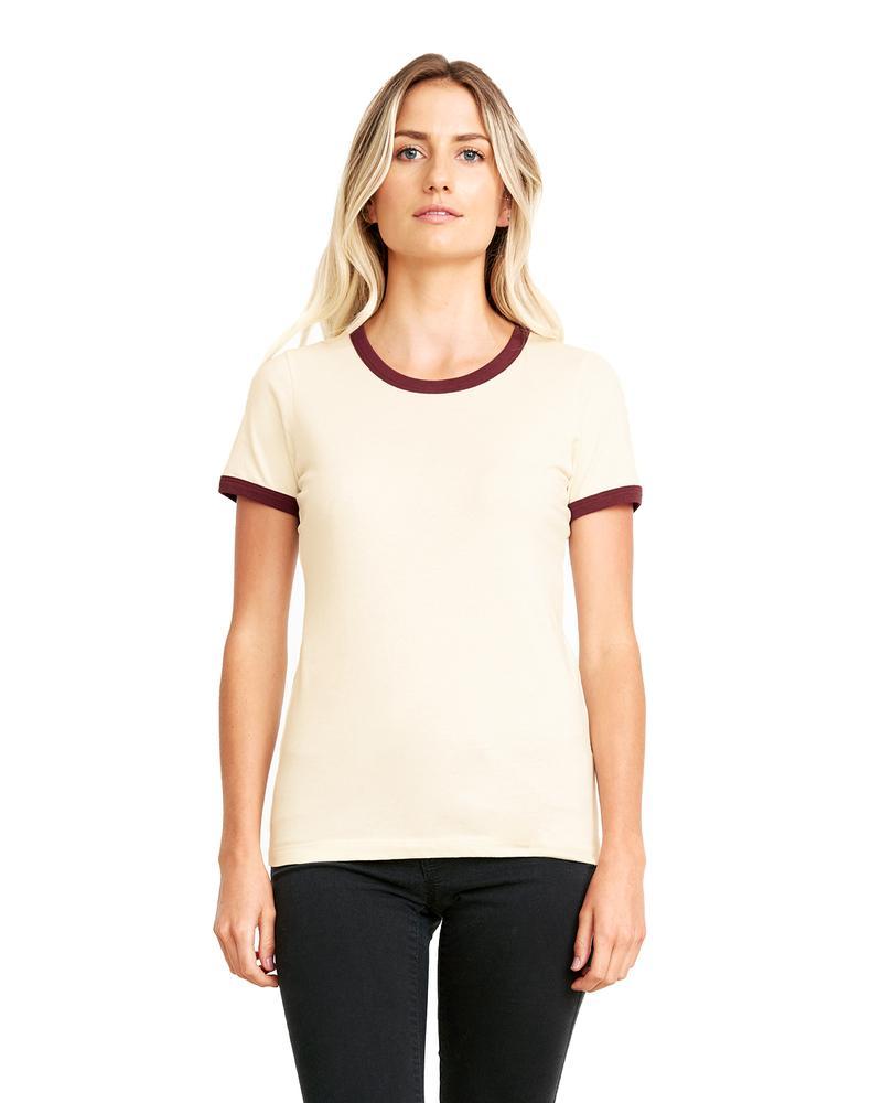 Next Level 3904 - T-shirt Ringer pour femme