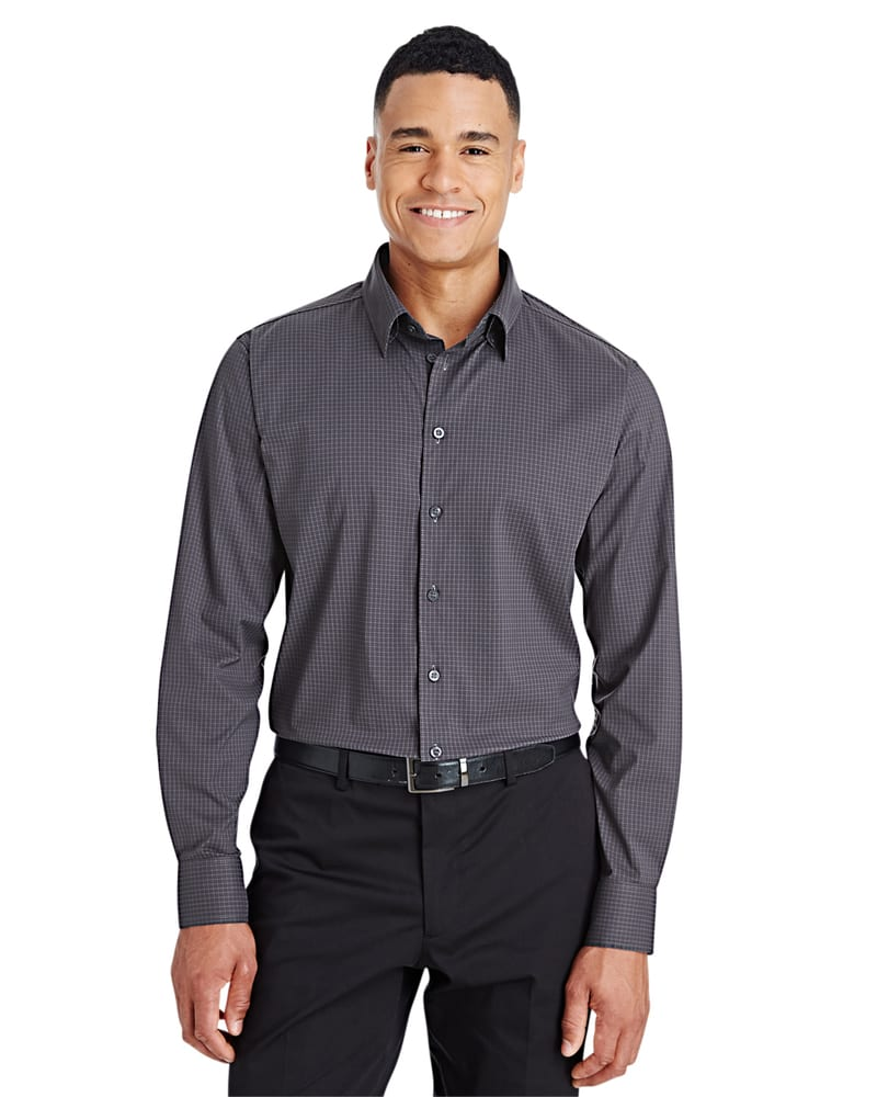Devon & Jones DG535 - Men's CrownLux Performance™ Tonal Mini Check Shirt