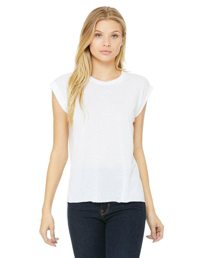 Bella+Canvas 8804 - T-shirt musclé fluide pour femmes avec poignet roulé