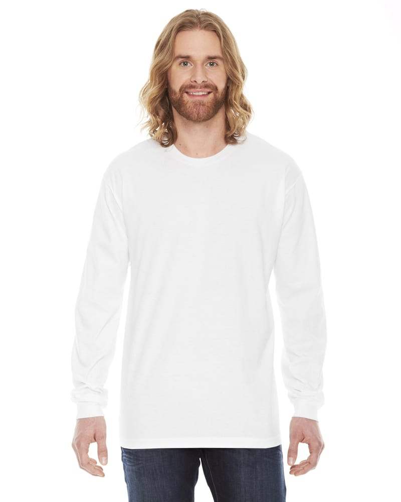American Apparel 2007W - T-shirt unisexe à manches longues en jersey fin
