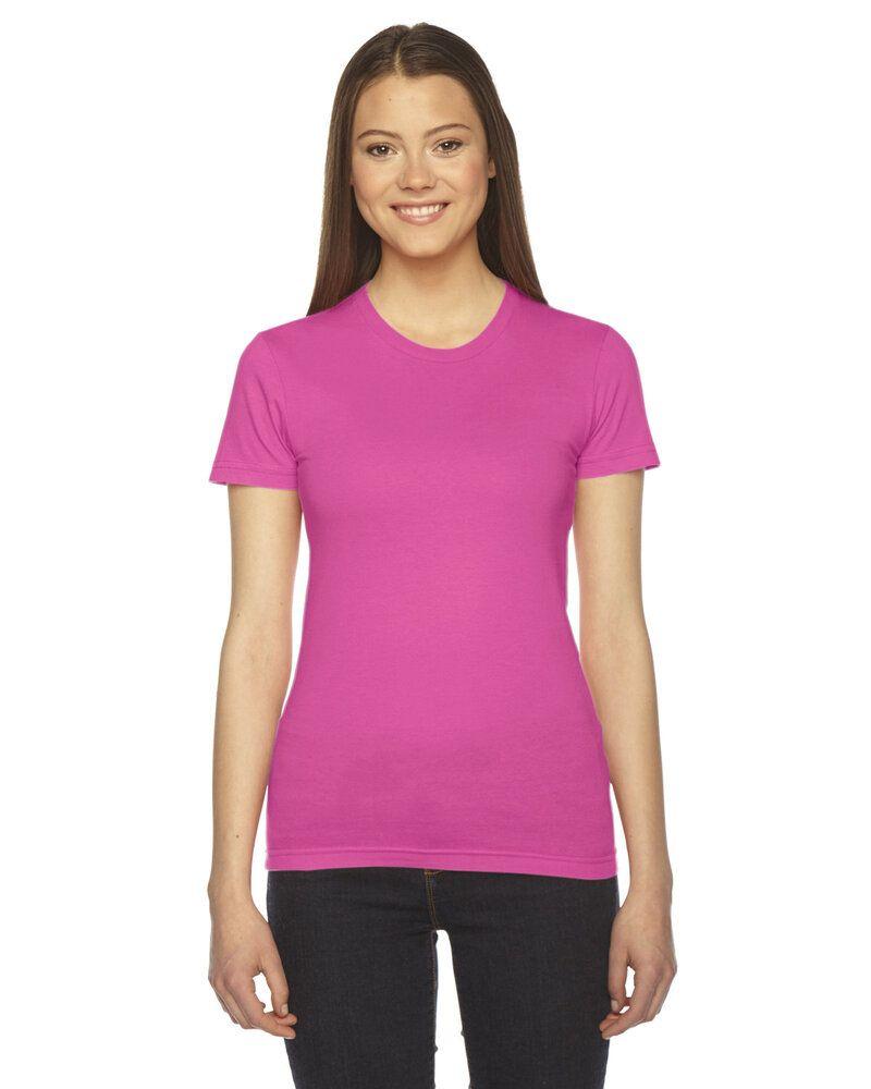 American Apparel 2102W - T-shirt à manches courtes en jersey fin pour femme