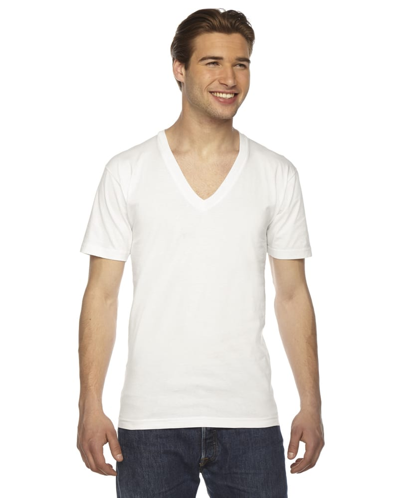 American Apparel 2456W - Unisex Fine Jersey Short-Sleeve V-Neck T-Shirt