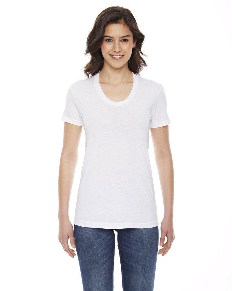 American Apparel BB301W - T-Shirt Col ras du cou à manches courtes en polycoton pour femme