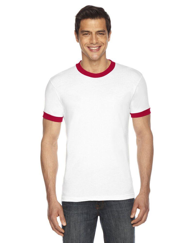 American Apparel BB410W - T-shirt unisexe à manches courtes en polycoton, style Ringer